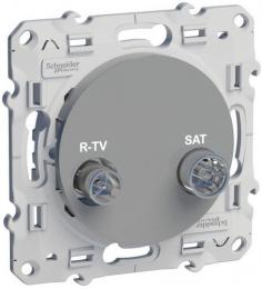 Розетка R-TV/SAT оконечная Odace (алюминий) S53R455