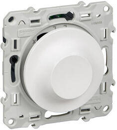 Светорегулятор поворотный 40-600 Вт Odace (белый) S52R511