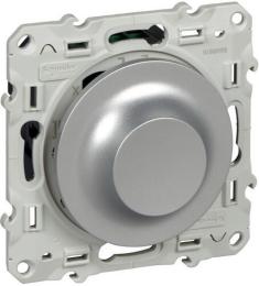 Светорегулятор поворотно-нажимной 4-400 Вт Odace Led (алюминий) S53R512