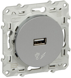Розетка USB Odace (алюминий) S53R408