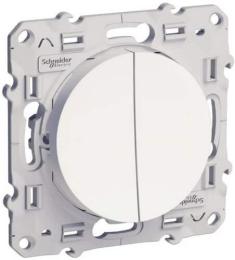 Выключатель двухклавишный Odace (белый) S52R211