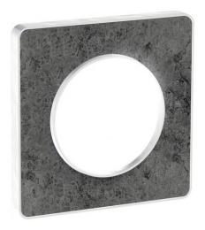 Рамка Odace одноместная (морской камень/белая вставка) S52P802U