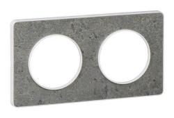 Рамка Odace двухместная (морской камень/белая вставка) S52P804U