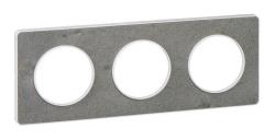 Рамка Odace трехместная (морской камень/белая вставка) S52P806U