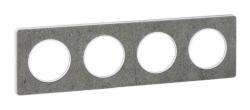 Рамка Odace четырехместная (морской камень/белая вставка) S52P808U