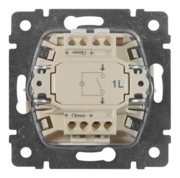 Выключатель одноклавишный с подсветкой Valena (Алюминий) 770110