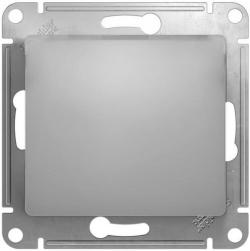 Выключатель одноклавишный Glossa (алюминий) GSL000311