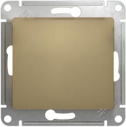 Выключатель одноклавишный Glossa (титан) GSL000411