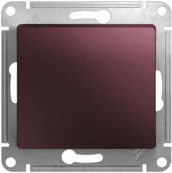 Выключатель одноклавишный Glossa (баклажановый) GSL001111