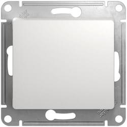 Проходной одноклавишный переключатель Glossa (белый) GSL000161