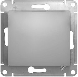Проходной одноклавишный переключатель Glossa (алюминий) GSL000361
