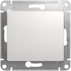 Перекрестный одноклавишный переключатель Glossa (белый) GSL000171
