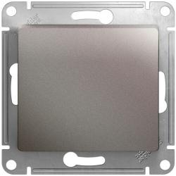 Перекрестный одноклавишный переключатель Glossa (платина) GSL001271