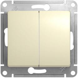 Выключатель двухклавишный Glossa (бежевый) GSL000251