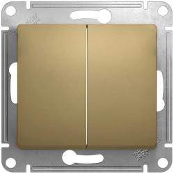 Выключатель двухклавишный Glossa (титан) GSL000451