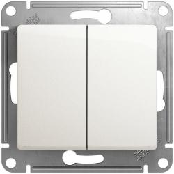 Выключатель двухклавишный Glossa (перламутр) GSL000651