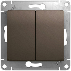 Выключатель двухклавишный Glossa (шоколад) GSL000851