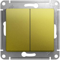 Выключатель двухклавишный Glossa (фисташоковый) GSL001051