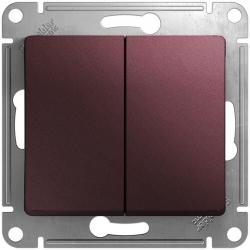 Выключатель двухклавишный Glossa (баклажановый) GSL001151