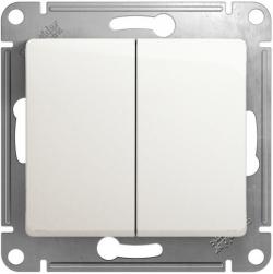 Проходной двухклавишный переключатель Glossa (перламутр) GSL000665