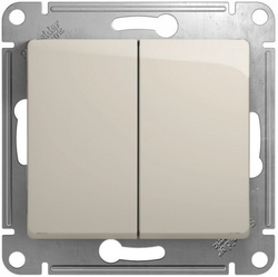 Проходной двухклавишный переключатель Glossa (молочный) GSL000965