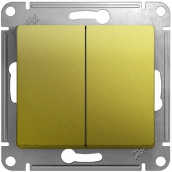 Проходной двухклавишный переключатель Glossa (фисташоковый) GSL001065