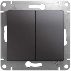 Проходной двухклавишный переключатель Glossa (графит) GSL001365
