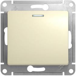 Выключатель одноклавишный с подсветкой Glossa (бежевый) GSL000213