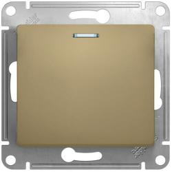 Выключатель одноклавишный с подсветкой Glossa (титан) GSL000413