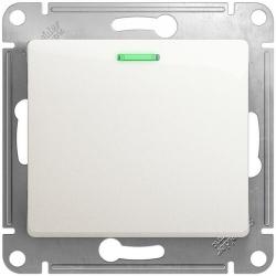 Выключатель одноклавишный с подсветкой Glossa (перламутр) GSL000613