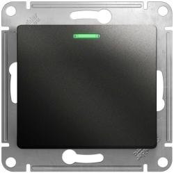 Выключатель одноклавишный с подсветкой Glossa (антрацит) GSL000713