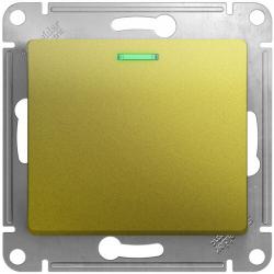 Выключатель одноклавишный с подсветкой Glossa (фисташоковый) GSL001013