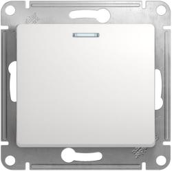 Проходной одноклавишный переключатель с подсветкой Glossa (белый) GSL000163