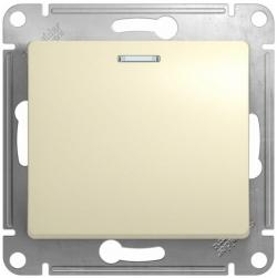 Проходной одноклавишный переключатель с подсветкой Glossa (бежевый) GSL000263