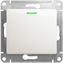Проходной одноклавишный переключатель с подсветкой Glossa (перламутр) GSL000663