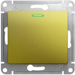 Проходной одноклавишный переключатель с подсветкой Glossa (фисташоковый) GSL001063