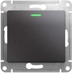 Проходной одноклавишный переключатель с подсветкой Glossa (графит) GSL001363