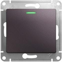 Проходной одноклавишный переключатель с подсветкой Glossa (сиреневый туман) GSL001463