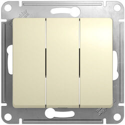 Выключатель трехклавишный Glossa (бежевый) GSL000231