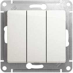 Выключатель трехклавишный Glossa (перламутр) GSL000631