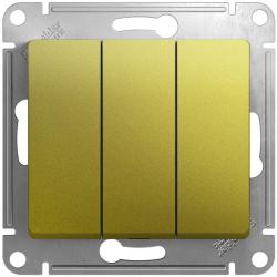 Выключатель трехклавишный Glossa (фисташоковый) GSL001031