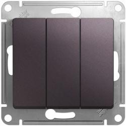 Выключатель трехклавишный Glossa (сиреневый туман) GSL001431