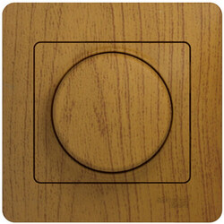 Светорегулятор нажимной с рамкой 60-300 Вт Glossa (дерево дуб) GSL000534