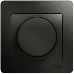 Светорегулятор нажимной с рамкой 60-300 Вт Glossa (антрацит) GSL000734