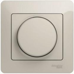 Светорегулятор нажимной с рамкой 60-300 Вт Glossa (молочный) GSL000934