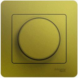 Светорегулятор нажимной с рамкой 60-300 Вт Glossa (фисташоковый) GSL001034