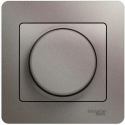 Светорегулятор нажимной с рамкой 60-300 Вт Glossa (платина) GSL001234