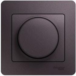 Светорегулятор нажимной с рамкой 60-300 Вт Glossa (сиреневый туман) GSL001434