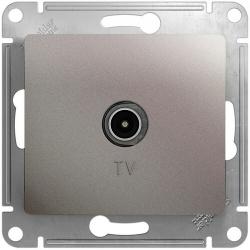 Розетка TV Glossa оконечная (платина) GSL001291