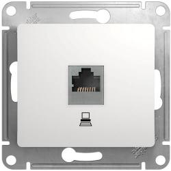 Розетка компьютерная RJ45 Glossa кат. 5e (белый) GSL000181K